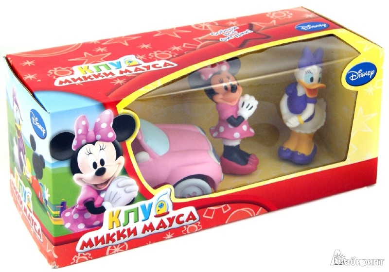 Иллюстрация 1 из 3 для Disney. Клуб Микки Мауса. Игровой набор: машинка, Минни и Дейзи (Т55648) | Лабиринт - игрушки. Источник: Лабиринт