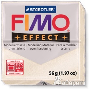 Иллюстрация 1 из 4 для FIMO Effect полимерная глина, 56 гр., цвет перламутр металлик (8020-08) | Лабиринт - игрушки. Источник: Лабиринт