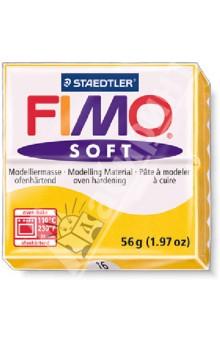 FIMO Soft полимерная глина, 56 гр., цвет жёлтый (8020-16) idigo полимерная глина для запекания 58гр цв зеленый неон sm55811