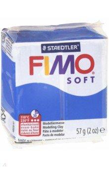 """Полимерная глина FIMO Soft (57 гр., цвет синий) (8020-37) детский набор """"дино"""" из полимерная глина и игра fimo kids form"""
