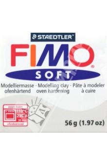 FIMO Soft полимерная глина, 56 грамм, цвет серый дельфин (8020-80) глина для моделирования fimo soft цвет прозрачный 56 г