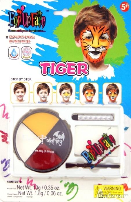 """Иллюстрация 1 из 8 для Набор - краски для росписи лица """"Тигр"""" (81064-5)   Лабиринт - игрушки. Источник: Лабиринт"""
