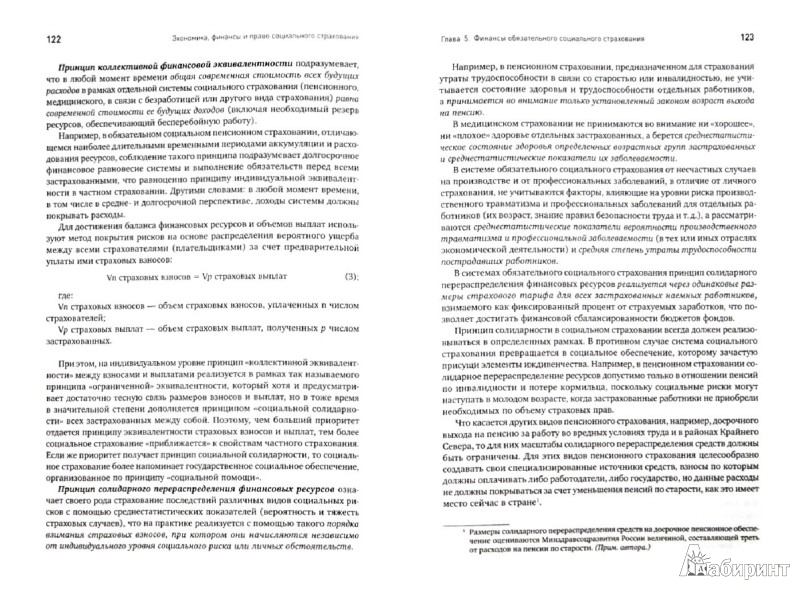 Иллюстрация 1 из 2 для Экономика, финансы и право социального страхования. Институты и страховые механизмы - Валентин Роик | Лабиринт - книги. Источник: Лабиринт