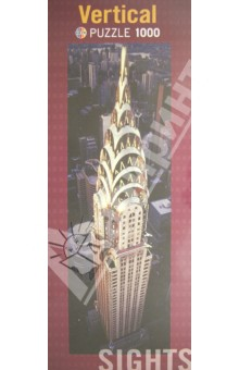 Puzzle-1000 Chrysler Building, вертикальный (29552) авто в казахстоне chrysler pt cruiser