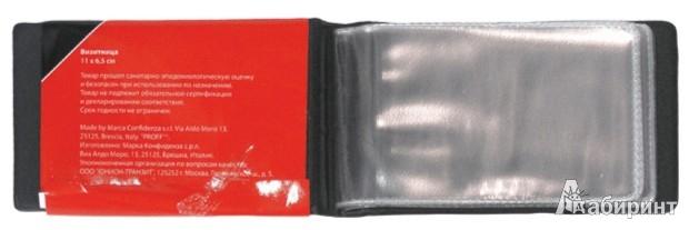 Иллюстрация 1 из 3 для Визитница на 24 карточки, черная (PLF0406) | Лабиринт - канцтовы. Источник: Лабиринт
