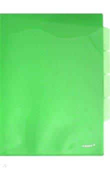 Папка-уголок A4, с 3 отделениями, зеленая (CH410-TF-03)
