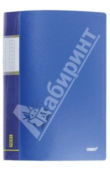 Папка A4 с 30 вкладышами, синя�� (DB30AB-04) папка с приж пласт proff next а4 0 60мм с торц и внутр карм синяя