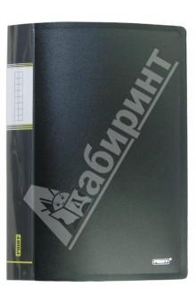 Папка A4 с 40 вкладышами, черная (DB40AB-06) папка с приж пласт proff next а4 0 60мм с торц и внутр карм синяя