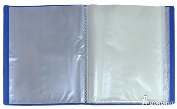 Иллюстрация 1 из 5 для Папка A4 с 60 вкладышами, синяя (DB60AB-04)   Лабиринт - канцтовы. Источник: Лабиринт