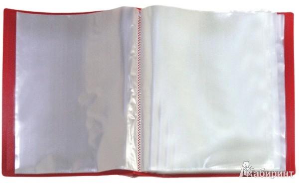 Иллюстрация 1 из 2 для Папка с 80 вкладышами в пластиковом коробе, А4, красная (DB80AB-01) | Лабиринт - канцтовы. Источник: Лабиринт