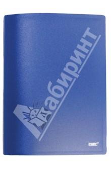 Папка A4 с боковым пружинным скоросшивателем и внутренним карманом, синяя (CF903P-04)