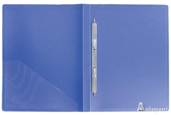 Иллюстрация 1 из 3 для Папка A4 с боковым пружинным скоросшивателем и внутренним карманом, синяя (CF903P-04) | Лабиринт - канцтовы. Источник: Лабиринт