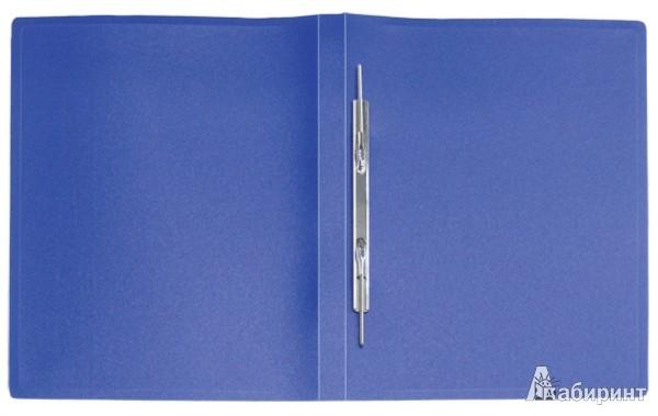 Иллюстрация 1 из 3 для Папка A4 с боковым пружинным скоросшивателем, синяя (CF903-04) | Лабиринт - канцтовы. Источник: Лабиринт