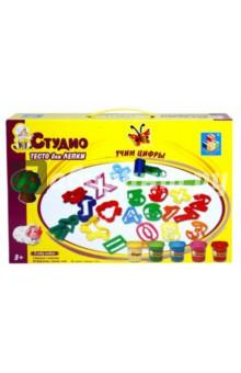 Купить Набор теста для лепки Учим цифры , 5 цветов, с аксессуарами (T54848), 1TOY, Наборы для лепки с игровыми элементами