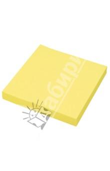 Клейкая бумага для заметок. 76х76 мм. Цвет: неоновый желтый (PF-7676N-02)