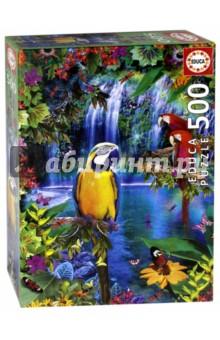 Пазл, 500 элементов, Тропические птицы (15512) educa пазл пекарня