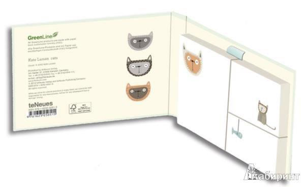 Иллюстрация 1 из 2 для Набор стикеров Green Sticky Notes Сats (25051) | Лабиринт - канцтовы. Источник: Лабиринт