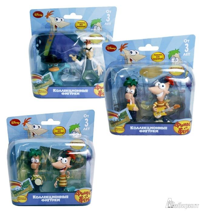 Иллюстрация 1 из 4 для Disney P&F. 2 фигурки с фоновой картинкой, 3 вида (Т55592) | Лабиринт - игрушки. Источник: Лабиринт