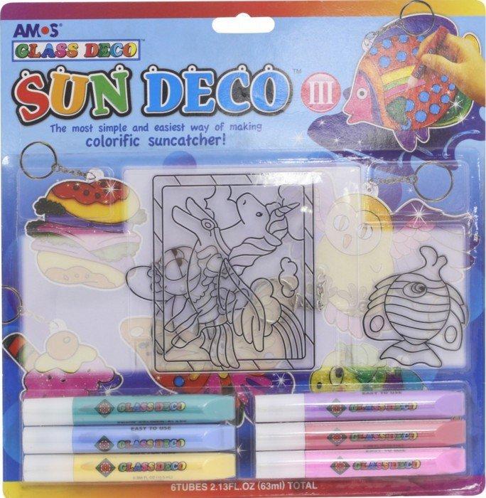 Иллюстрация 1 из 3 для Набор витражных красок с витражами, 6 красок (21634) | Лабиринт - игрушки. Источник: Лабиринт