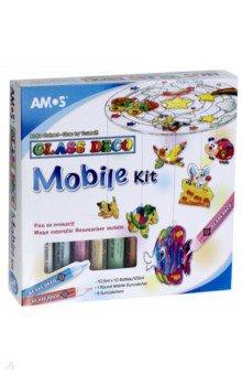 Набор витражных красок с витражами Мобиле, 10 цветов (22250) 22250 1 противень 37х27 см керамика мв х12
