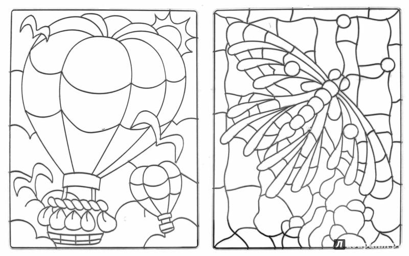 Иллюстрация 1 из 8 для Витражи-макси, 2 штуки (23869) | Лабиринт - игрушки. Источник: Лабиринт