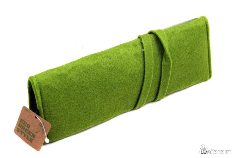 Иллюстрация 1 из 11 для Пенал на завязке. Зеленый (070047) | Лабиринт - канцтовы. Источник: Лабиринт