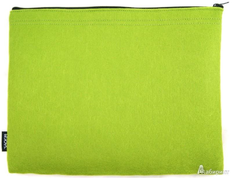 Иллюстрация 1 из 2 для Папка на молнии. Зеленая (070044)   Лабиринт - канцтовы. Источник: Лабиринт