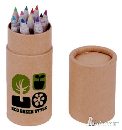 Иллюстрация 1 из 6 для Набор цветных карандашей 12 цветов (070204)   Лабиринт - канцтовы. Источник: Лабиринт