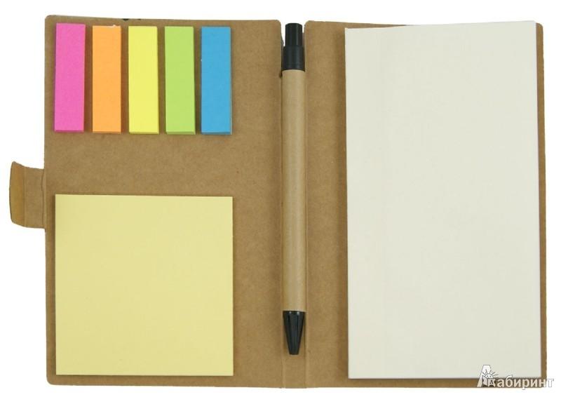 Иллюстрация 1 из 10 для Блокнот для заметок А6 с ручкой и закладками (070061) | Лабиринт - канцтовы. Источник: Лабиринт