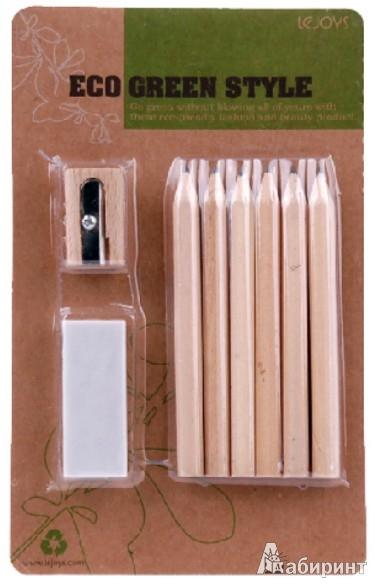 Иллюстрация 1 из 5 для Мини-набор канцелярский в блистере. Цветные карандаши, точилка, ластик (070195) | Лабиринт - канцтовы. Источник: Лабиринт