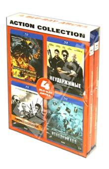 Action collection. Призрачный гонщик 2, Неудержимые, Профессионал, Исходный код (Blu-ray)
