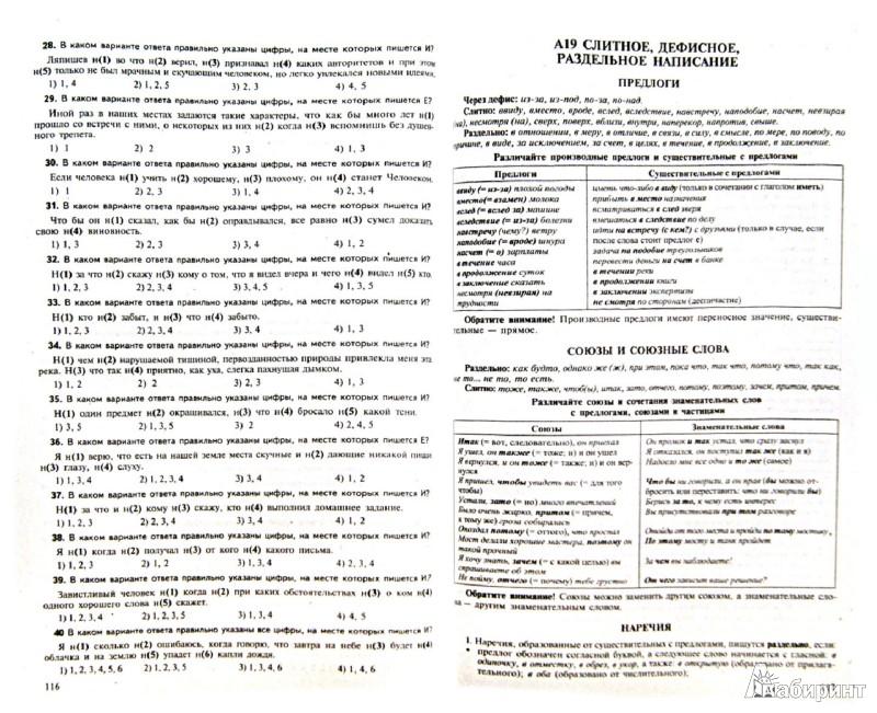 тестовые задания по русскому языку 10-11 класс малюшкин ответы