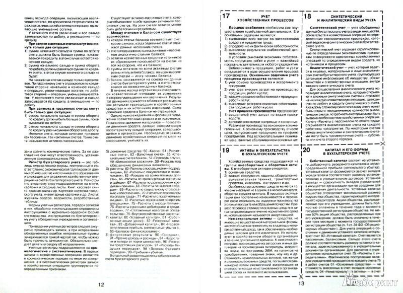 Иллюстрация 1 из 5 для Шпаргалка. Бухгалтерский учет   Лабиринт - книги. Источник: Лабиринт