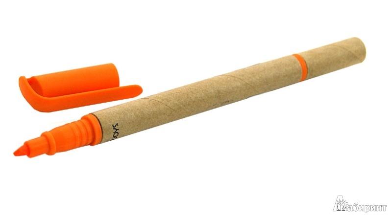 Иллюстрация 1 из 14 для Шариковая ручка с оранжевым маркером (070069) | Лабиринт - канцтовы. Источник: Лабиринт