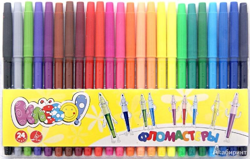 """Иллюстрация 1 из 6 для Фломастеры """"Клево!"""", 24 цвета (877053-24)   Лабиринт - канцтовы. Источник: Лабиринт"""