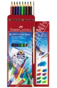 """Акварельные карандаши """"GRIP COLOUR MAGIC"""", 8 цветов + кисть (113008) от Лабиринт"""