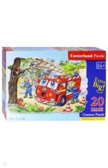 Puzzle MAXI, 20 элементов, Пожарная машина (С-02146-NEW)