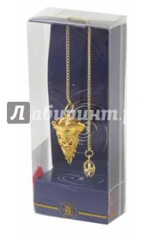 Маятник Языческий пентакль (золото +7 камней Чакр) магический пентакль соломона связанный с интеллектом