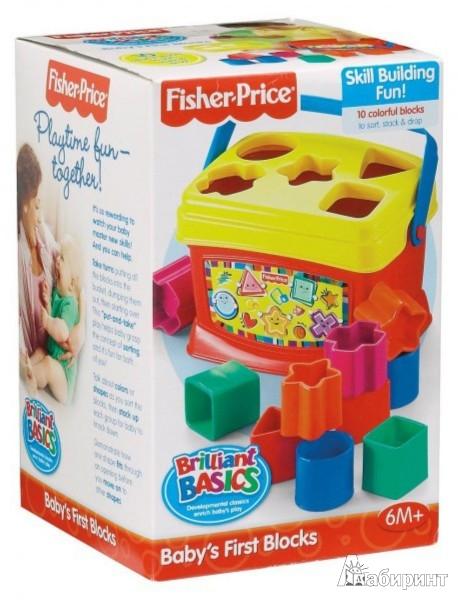 Иллюстрация 1 из 7 для Первые кубики малыша Fisher (7167K) | Лабиринт - игрушки. Источник: Лабиринт