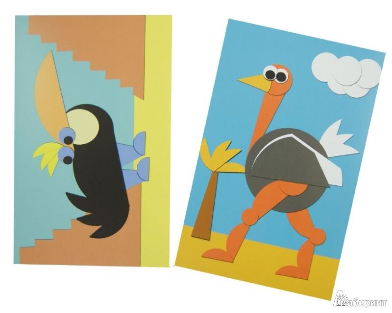 Иллюстрация 1 из 11 для Аппликации. Веселые птички. 15 карточек - Сергей Афонькин | Лабиринт - игрушки. Источник: Лабиринт
