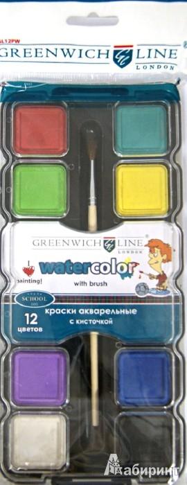 Иллюстрация 1 из 5 для Краски акварельные, 12 цветов (GL12PWC) | Лабиринт - канцтовы. Источник: Лабиринт