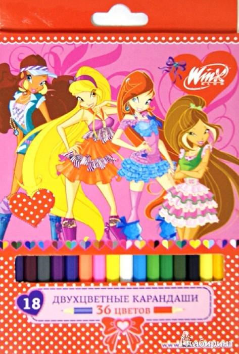 Иллюстрация 1 из 4 для Карандаши двухцветные, 18 штук, 36 цветов (7-18-36/WFD)   Лабиринт - канцтовы. Источник: Лабиринт