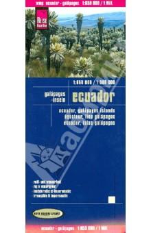 Ecuador. Galapagos - inseln. 1:650 000 / 1 000 000 утепленный костюм авангард спецодежда тайга лес р 112 116 рост 182 188 500333