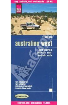 Australien. West. 1:1 800 000 australien ost карта