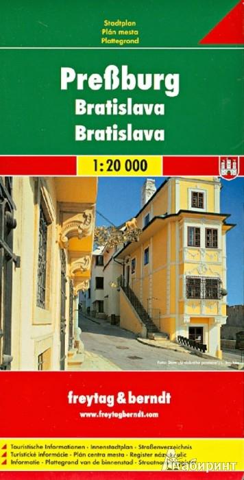 Иллюстрация 1 из 6 для Bratislava. 1:20 000 | Лабиринт - книги. Источник: Лабиринт