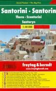 Santorini. 1:40 000. City pocket + The Big Five