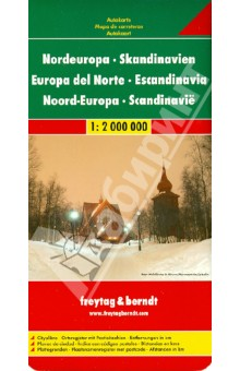 Nordeuropa - Skaninavien. 1:2 000 000