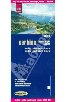 Serbien. Montenegro. Kosovo. 1:385 000 serbia montenegro macedonia 1 500 000