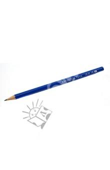 Карандаш черногрифельный Norica HB, голубой (13046)