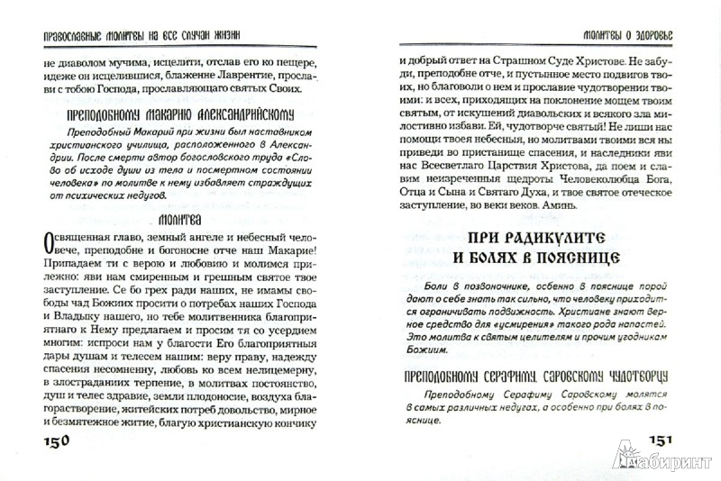 Иллюстрация 1 из 6 для Православные молитвы на все случаи жизни | Лабиринт - книги. Источник: Лабиринт